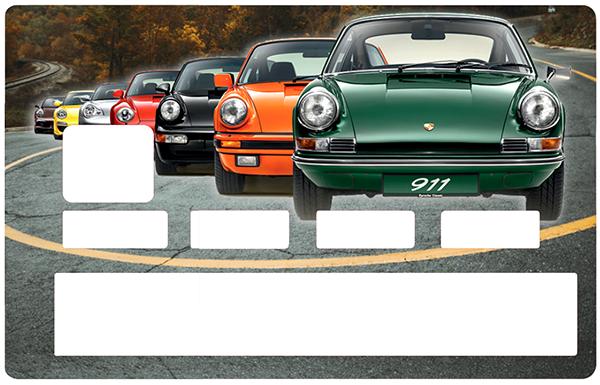 Sticker pour carte bancaire, Tribute to la Porsche 911 collection
