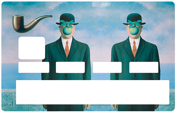 Sticker pour carte bancaire, Tribute to Magritte