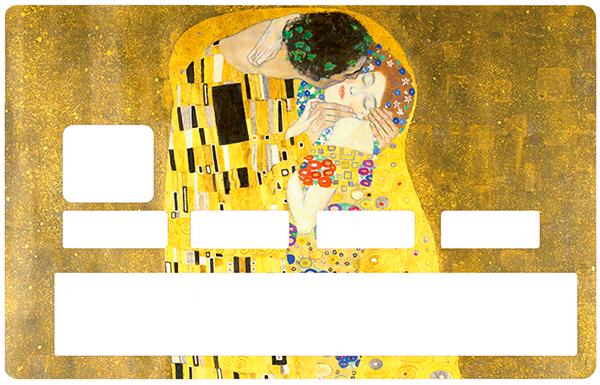 Sticker pour carte bancaire, Tribute to BAISER de Gustav Klimt