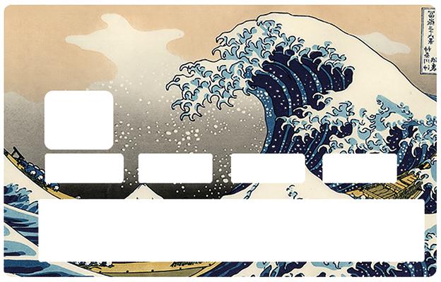 Sticker pour carte bancaire, La Grande Vague de Kanagawa de Hokusai