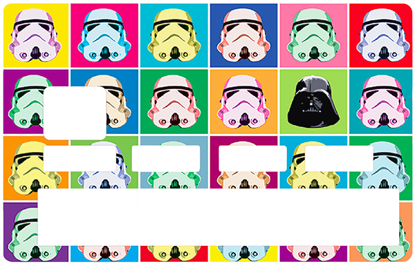 Sticker pour carte bancaire, Stormtrooper by Andy Wharol