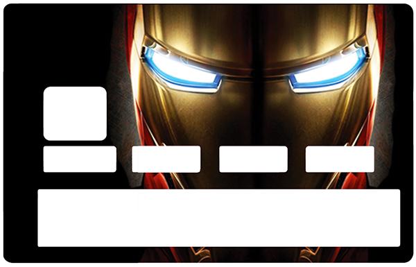 Sticker pour carte bancaire, Tribute to Iron Man
