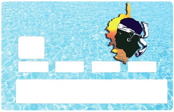 Sticker pour carte bancaire, La Mer Corse