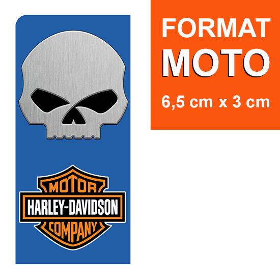 1 sticker pour plaque d\'immatriculation MOTO, Harley Davidson