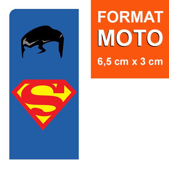 1 sticker pour plaque d\'immatriculation MOTO, Superman