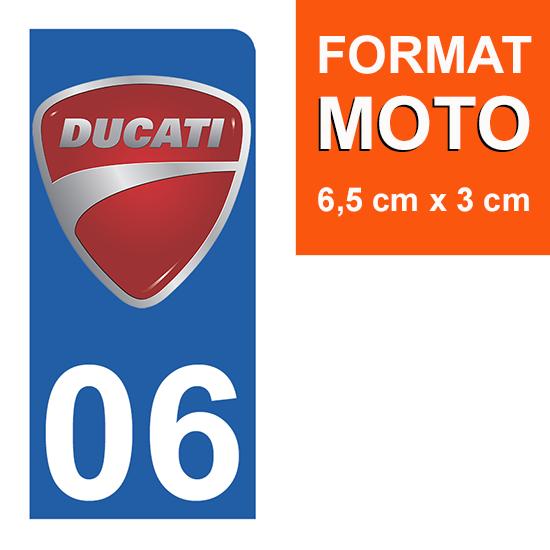 1 sticker pour plaque d\'immatriculation MOTO , 06 Alpes Maritime, Ducati