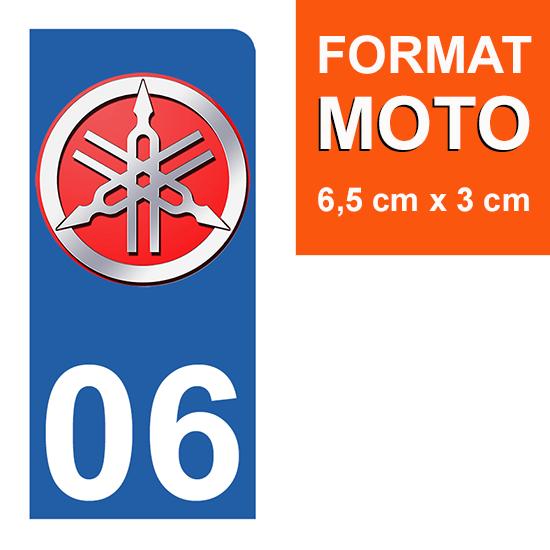 1 sticker pour plaque d\'immatriculation MOTO , 06 Alpes Maritime, Yamaha
