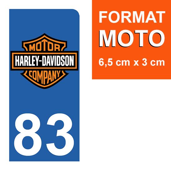 1 sticker pour plaque d\'immatriculation MOTO , 83 Var, V-TWIN
