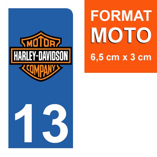 1 sticker pour plaque d\'immatriculation MOTO , 13, Bouches du Rhône, Harley Davidson