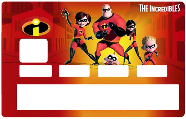 Sticker pour carte bancaire, Tribute to les Indestructibles
