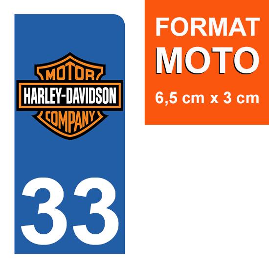 1 sticker pour plaque d\'immatriculation MOTO , 33 Gironde, V-TWIN