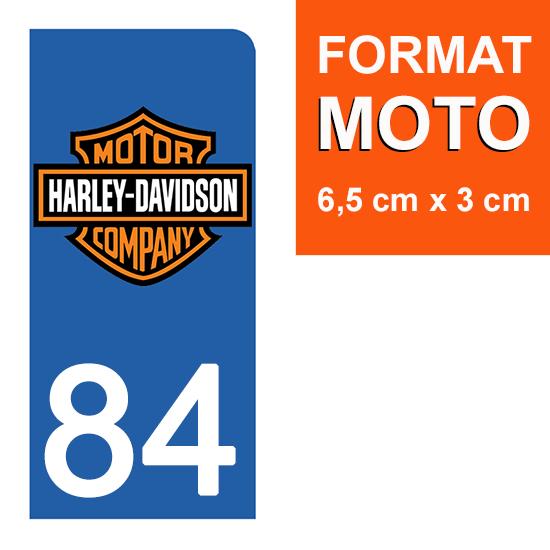 1 sticker pour plaque d\'immatriculation MOTO , 84 Vaucluse, V-TWIN