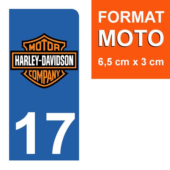 1 sticker pour plaque d\'immatriculation MOTO , 17 charente maritime, V-TWIN