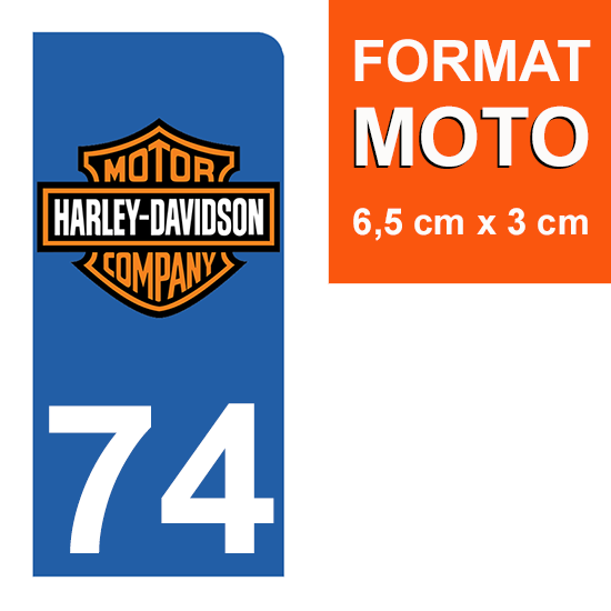 "Stickers Plaque d/'immatriculation /""Haute Savoie/"" Auto-moto Fond Noir"