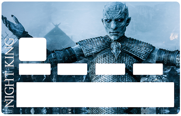 Sticker pour carte bancaire, Tribute to The Night King - Game of Thrones, Edition limitée 100 ex.