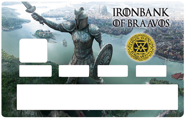Sticker pour carte bancaire, Tribute to IRONBANK of BRAAVOS - Game of Thrones, Edition limitée 300 ex.