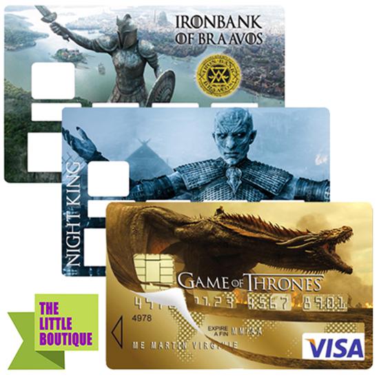 Stickers pour carte bancaire, set de 3, hommage à Game of Thrones, Edition limitée 300 ex.