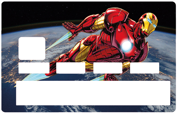 Sticker pour carte bancaire, Tribute to IRON MAN original