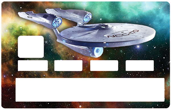 Sticker pour carte bancaire, Tribute to Star trek enterprise NCC1701