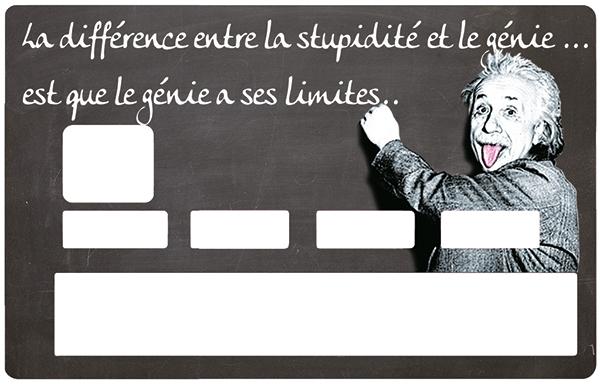 Sticker pour carte bancaire, Tribute to Albert Einstein, le genie
