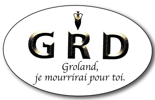 Sticker, Presipauté de Groland « Groland, je mourrirai pour toi. »