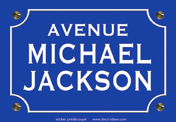 Sticker nom de rue, Michael Jackson