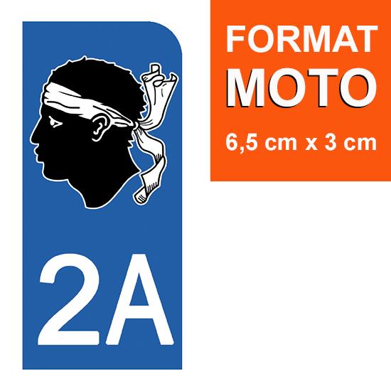 1 sticker pour plaque d\'immatriculation MOTO , 2A CORSE