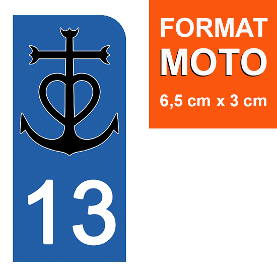 13-BOUCHES-DU-RHONE-CAMARGUE-sticker-plaque-immatriculation-moto-the-little-boutique