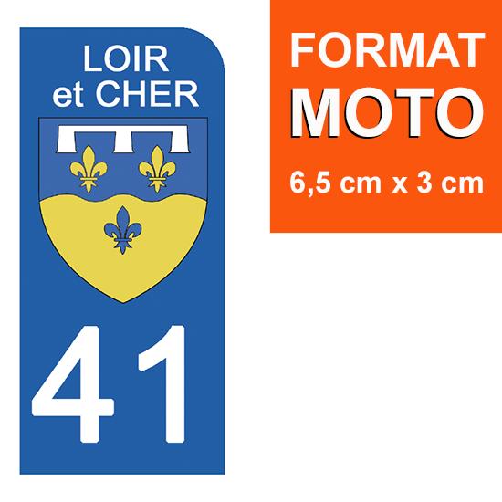 1 sticker pour plaque d\'immatriculation MOTO , 41 LOIR et CHER