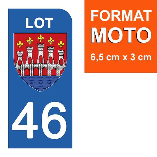1 sticker pour plaque d\'immatriculation MOTO , 46 LOT