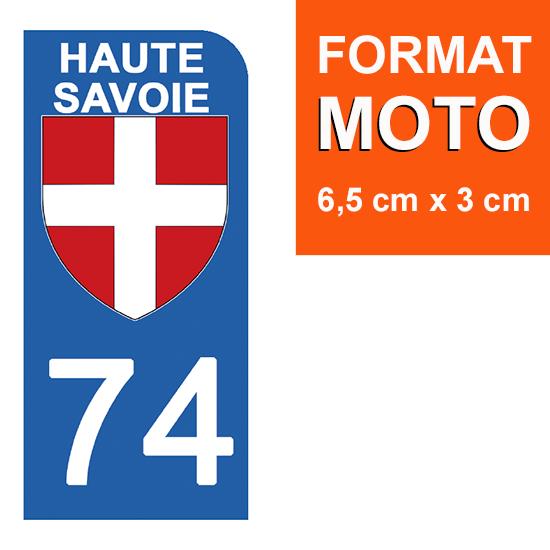 1 sticker pour plaque d\'immatriculation MOTO , 74 HAUTE SAVOIE