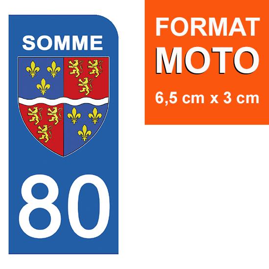 1 sticker pour plaque d\'immatriculation MOTO , 80 SOMME