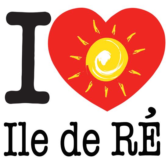 Sticker I LOVE le soleil de l\'ile de Ré