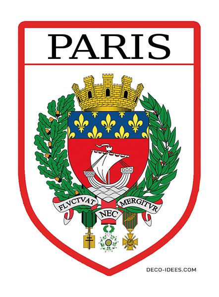 Sticker, Blason de PARIS