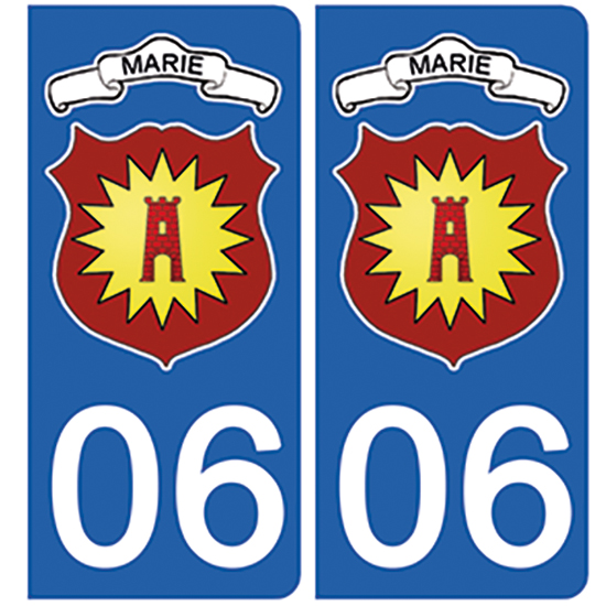 06-marie-sur-tinée-BLASON-sticker-plaque-immatriculation-the-little-sticker-fabricant- haute alpes