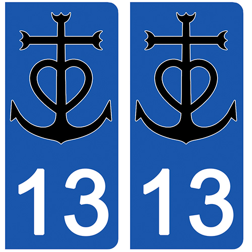13 sticker-plaque-immatriculation-13-camargue