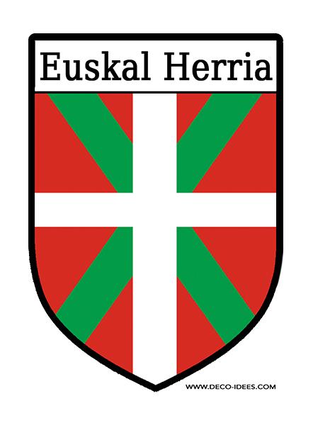 Sticker, Blason Le drapeau basque ou ikurrina