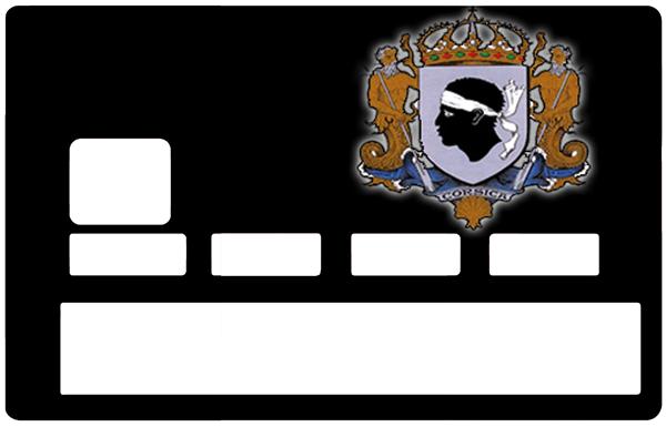 Sticker pour carte bancaire, la Corse