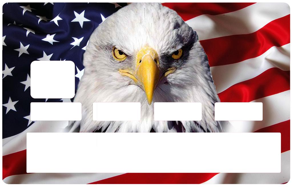 Sticker pour carte bancaire, l\'aigle Americain