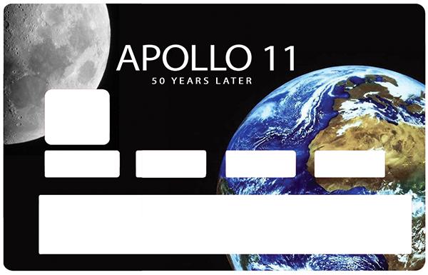 Sticker pour carte bancaire, APOLLO 11, 50 ans