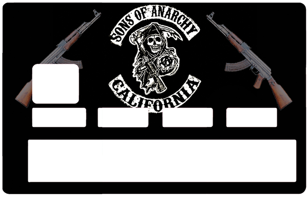 Sticker pour carte bancaire, Tribute to Son Of Anarchy