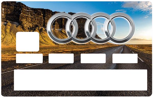 Sticker pour carte bancaire, Tribute to AUDI