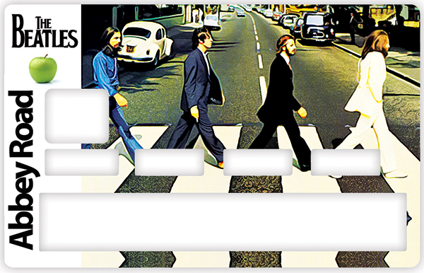 Sticker pour carte bancaire, Tribute to ABBEY ROAD, The Beatles