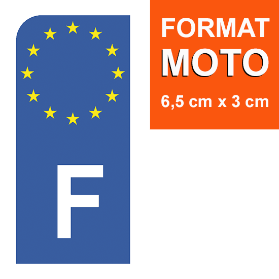 1 sticker pour plaque d\'immatriculation EUROBAND MOTO, Bleu ou Noir - France