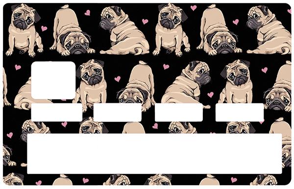 Sticker pour carte bancaire, Carlins d\'amour