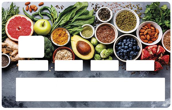 Sticker pour carte bancaire, Healty food