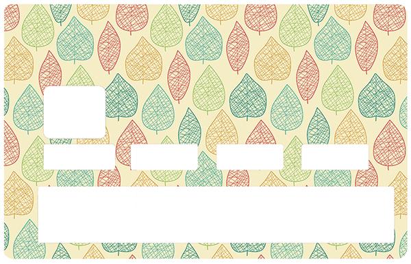 Sticker pour carte bancaire, Feuille d\'automne