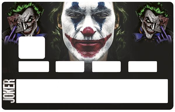 Sticker pour carte bancaire, JOKER, édition limitée 100 ex.
