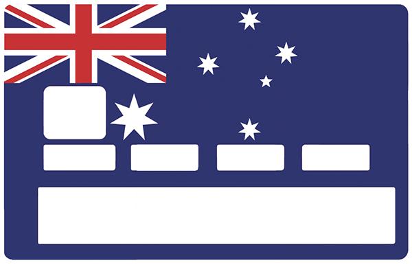 Sticker pour carte bancaire, drapeau Australie