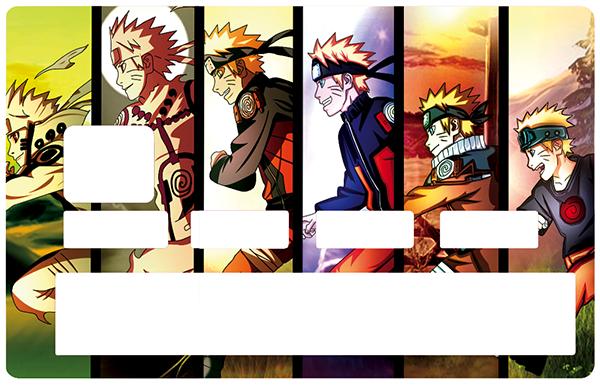 Sticker pour carte bancaire, Naruto, édition limitée 100 ex.